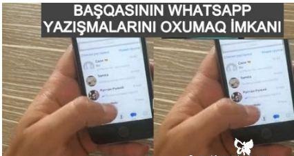 Başqasının whatsapp mesajlarini oxumaq 100% - 2018 - YouTube